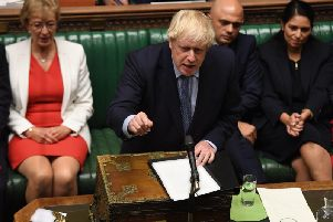 PM Boris Johnson in the House of Commons this evening