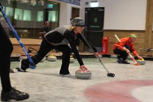 Action from last weekends open bonspiel at The Flower Bowl Entertainment Centre