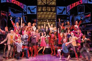 The cast of Kinky Boots, which is performing at the Blackpool Opera House