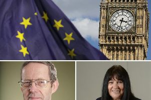 FSB National Chairman Mike Cherry, left, and Chief Executive of the North and Western Lancashire Chamber of Commerce Babs Murphy, right, have issued advice to businesses on how to prepare for a No Deal Brexit