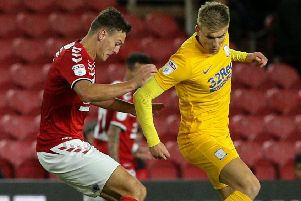 On Tuesday Brad Potts came on as a sub at Boro