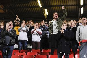 PNE fans during the club's last visit to The Valley in 2015