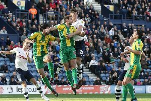 Action from Preston's clash with West Brom at Deepdale last season