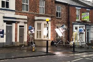 ITV is filming series 2 of its hit-drama The Bay in St Thomass Road, Chorley today (October 7)
