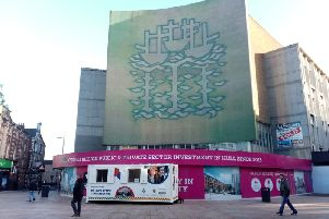 The Three Ships mural on the former BHS building