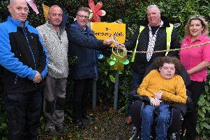 The opening of the sensory walk