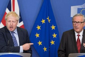 Boris Johnson and the EU's Jean-Claude Juncker