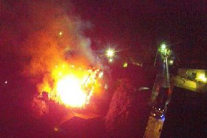 The fire from above (Image: Chris Rainford/LFRS)