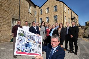 Fraser House, South Road, Lancaster, Lancashire.'County Councillor Michael Green, as well as reps from our economic development team, and some representatives from private sector who work in the digital sector.'The building is going to be renovated to provide a base for businesses who work in the digital sector.