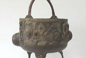 An antique cauldron