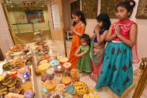 Youngsters taking part in Diwali