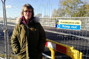 Kathryn Young issued a clarion call to her neighbours to campaign for the road to be kept closed until safety measures are put in place