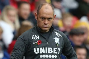Preston manager Alex Neil during last week's win at Charlton