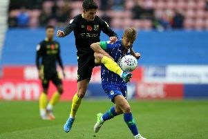 Michael Jacobs in action against Brentford