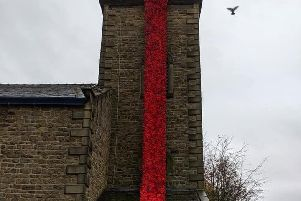 Poppy fall at St Thomas's church photo: David Brewin