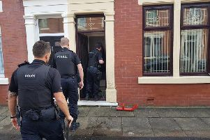 Police raid in Basil Street, Preston