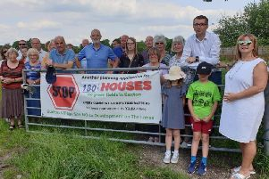Campaigners mobilised to stop the proposed development after it was put back on the table
