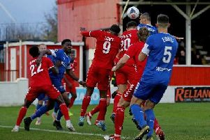 Haydn Hollis scored his first goal of the season against Ebbsfleet United last time out.
