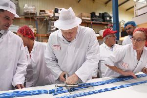 Prime Minister Boris Johnson during a visit to Coronation Candy in Blackpool while General Election campaigning. Picture: Stefan Rousseau/PA Wire