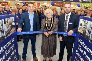 Mayor of Alfreton Councillor Marlene Bennett MBE opened the new store with a ribbon cutting ceremony.