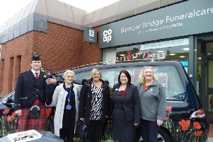 Staff at an open event at Bamber Bridge CoOp Funeral Care to mark Remembrance Day.