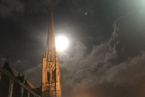 St Walburge's at night