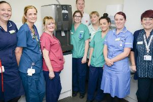 The Ribblesdale Wards new ice machine, which comes courtesy of'Valerie Bennett via Rosemere Cancer Foundation.