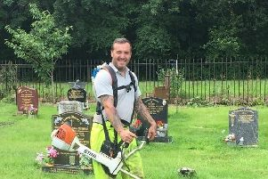 Paul Fletcher in the cemetery where he worked for 20 years