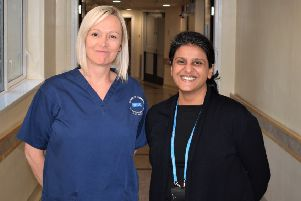 Joanne Darby and Dr Urmi Gupta.