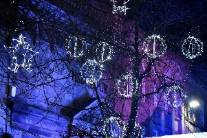 Some of the lights at the Lancaster Christmas Lights switch-on.