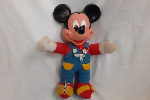 This vintage, cuddly Mickey Mouse is in the centre priced at 40 pounds