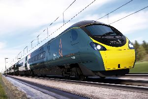 The new livery for the Avanti West Coast trains