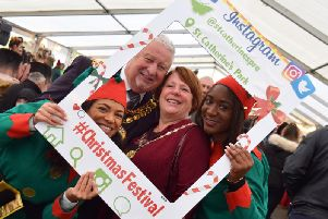 Coun John Rainsbury and his wife Shirley at the charitys Christmas Festival, which this year takes place on November 30 and December 1.
