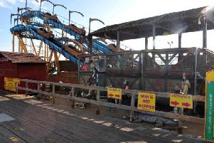 South Pier was cordoned off