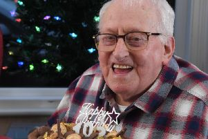 John (Jackson) Orr enjoys his cake