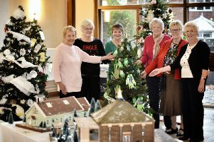 Christmas Tree Festival at St Leonards C Of E Church, Penwortham.'Organisers pictured left, Laraine Southwell, Ann Butterworth, Jean Bamber, Barbara Williams, Georgina Rigby and Sylvia Johnson