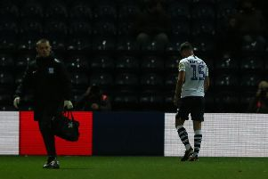 Joe Rafferty was sent off during Preston's 2-1 win over Fulham on Tuesday evening.