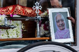 The funeral was held for Kartari Chand, of Bradford, at Scholemoor Cemetery and Crematorium Picture: James Hardisty