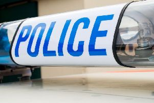 Five police cars attended the scene on the M61 southbound near Rivington Services after a car was stopped following a pursuit this morning (January 9)