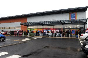 The Aldi in Buckshaw Village, during its opening day in 2016