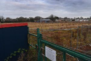 The development site as it stands currently