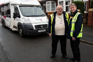 Ray Nightingale, 63, and Frank Monks, 61, are drivers with Lancashire County Council's travel care team and regularly give Mrs Hyde lifts to Fosterfields day centre in Eaves Lane