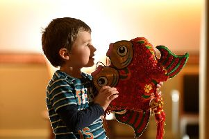 Alfie Butterworth, four, enjoys the Chinese New Year at Preston's Harris Museum
