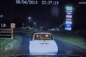 An oncoming HGV can be seen flashing its headlights before Lowe turns her car sharply to the left to rejoin the motorway in the right direction. (Credit: Lancashire Police)