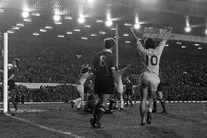 Preston score their second goal against Crewe in their FA Cup second replay at Anfield