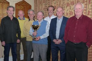 Elite Snooker A,  winners of the Richard Smith Knockout Cup