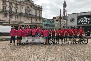 Members from Slaidburn Young Farmers Club and Chipping Young Farmers Club took part in the Wotnot bike race to Blackpool