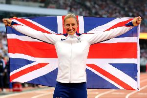 Holly Bradshaw flies the flag for Great Britain