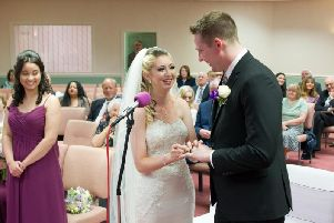 Emma and Nick married in Carnforth
