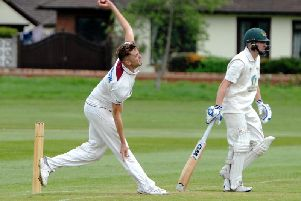 Toby Lester took a wicket in his first Championship game of the season